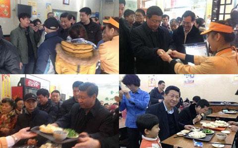 Presiden China Ikut Antre Beli Roti Kukus